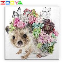 5D Diy Diamond Embroidery Flower Hedgehog Cactus Diamond Painting Set Cross Stitch Diamond Mosaic Decoration Gift Handmade Sp481