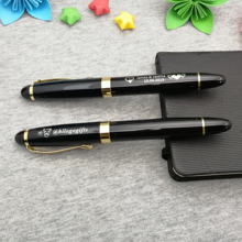 Good writing office pen custom free with your company logo text best gift for coworkers heavy event stuff