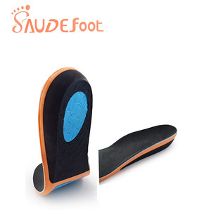 Image 3 - Saudefoot Shoe Insole Sneakers Cushion PU Damping Glue Ultra fine Velvet  Absorbing Memory Foam Increased Flexible Soft Shoe pad