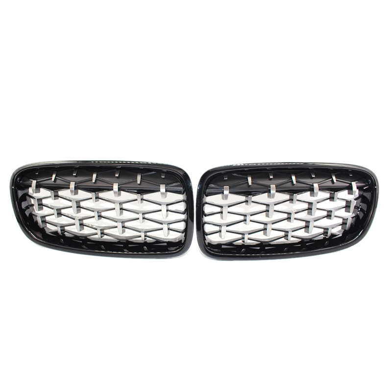 1 Pair Glossy Mesh Grille Grill Compatible with for Bmw F30 F31 320I 328I 335I 4 Door 2012 2018|Racing Grills| |  - title=