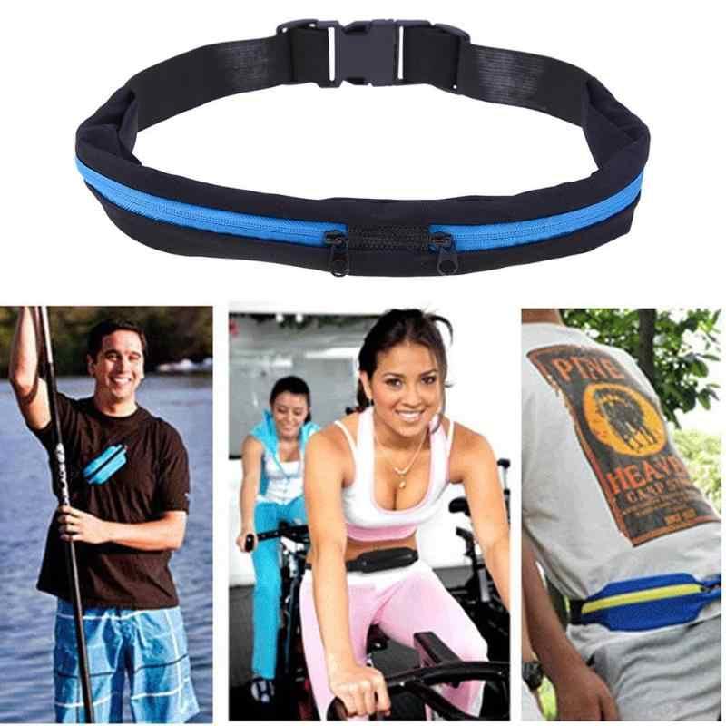 Tahan Air Tas Olahraga Lari Tas Pinggang Jogging Saku Portabel Bersepeda Tas Luar Ruangan Ponsel Anti-Theft Pack Sabuk Tas