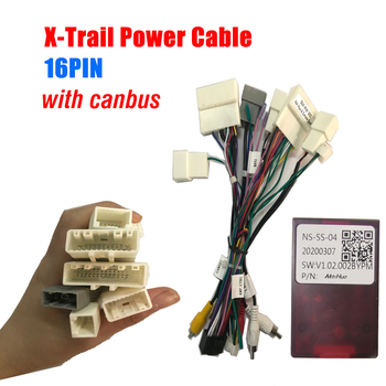 Car Stereo Radio Wire Power Harness Adapter with Canbus Decoder for Qashqai X-Trail Car Radio Multimedia Video Player Android image