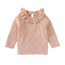 Зимняя теплая детская одежда топы повседневный мягкий свитер