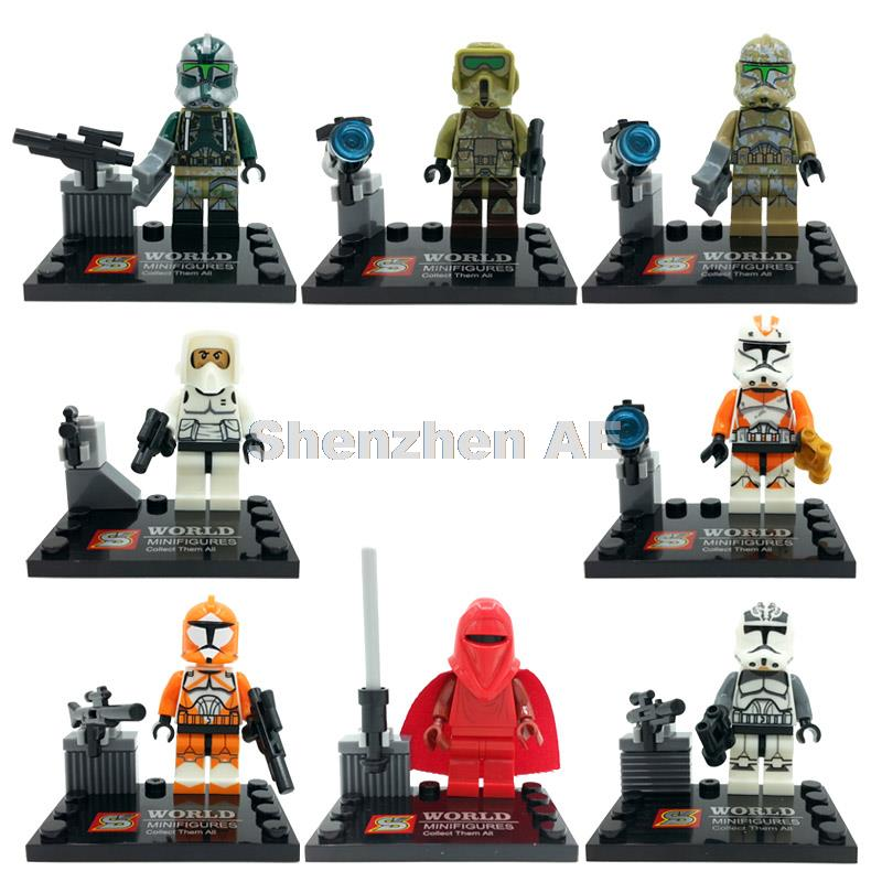 Single Sale Figure SY265 The Force Awakens Emperor's Royal Guard Building Blocks Sets Bricks Children Toys Legoing