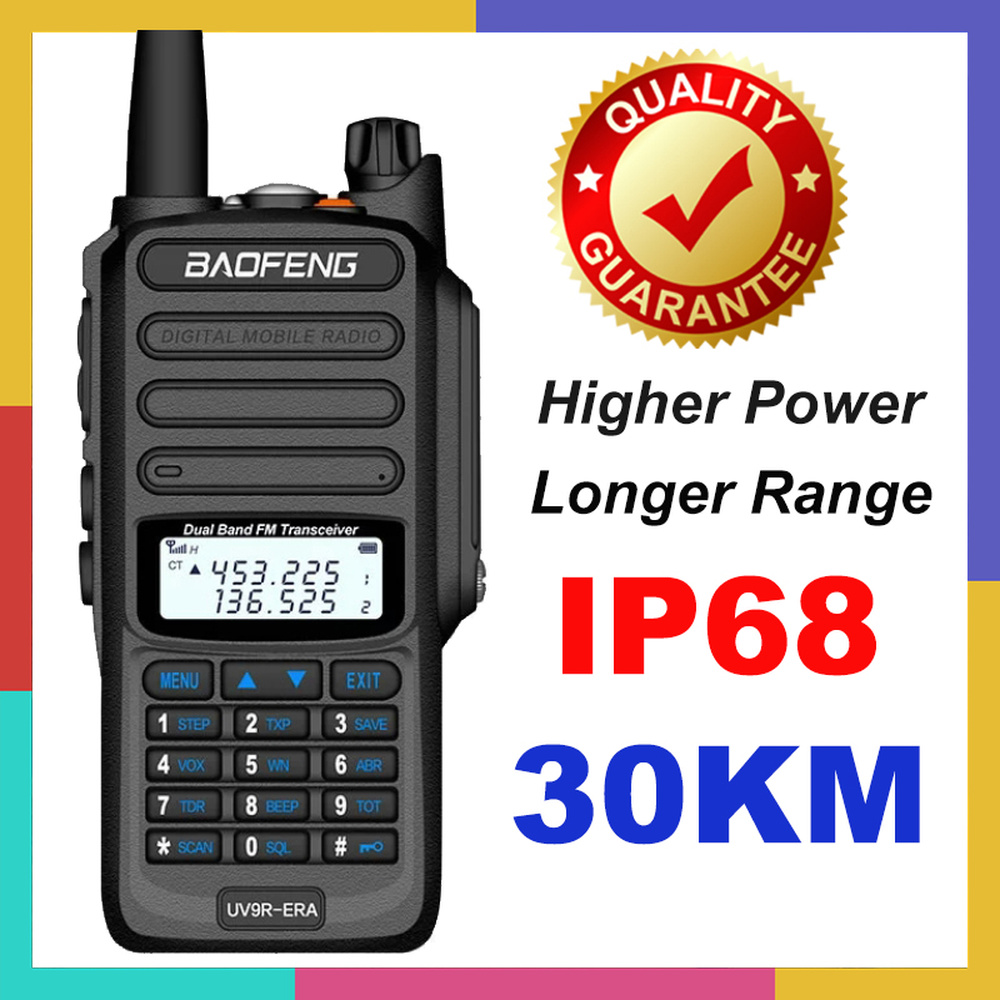 2020 Baofeng UV-9R ERA Plus IP68 Waterproof Walkie Talkie Long Range 30km Two Way Ham CB Radio Transceiver UHF VHF Radio Station
