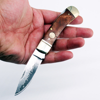 [Watchman DP003WD] Damascus VG10 steel floding knife Gentleman Pocket knives modern tradtional wood handle EDC tool collection