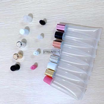 50pcs 5ml 10ml 15ml 20ml Vuoto Tubo Del Rossetto Tubo di Balsamo per le labbra Trucco Soft Spremere Sub-imbottigliamento, di Plastica trasparente Lip Gloss Container F606