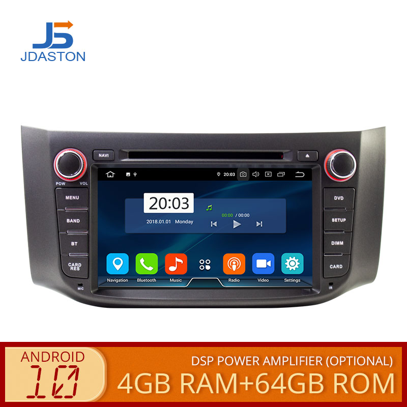 JDASTON <font><b>Android</b></font> 10 <font><b>Car</b></font> Multimedia Player For Nissan Sylphy Sentra 2012-2016 Pulsar <font><b>Audio</b></font> WIFI DVD CD GPS 2 Din <font><b>Car</b></font> Radio Stereo image