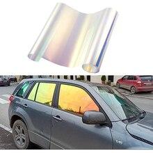 Silver Chameleon VLT 65% Window Tint for House Office Glass Car Solar Film Tinting Side Window Foils 3m X 50cm
