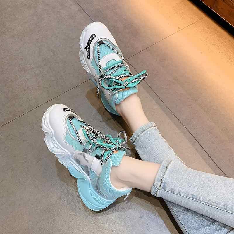 TEMOFON Nữ Giày Sneakers Thời Trang 2020 Thoáng Khí Đế Giày Cho Nữ Nhiều Màu Sắc Thể Thao Chun Giày Nữ HVT1359