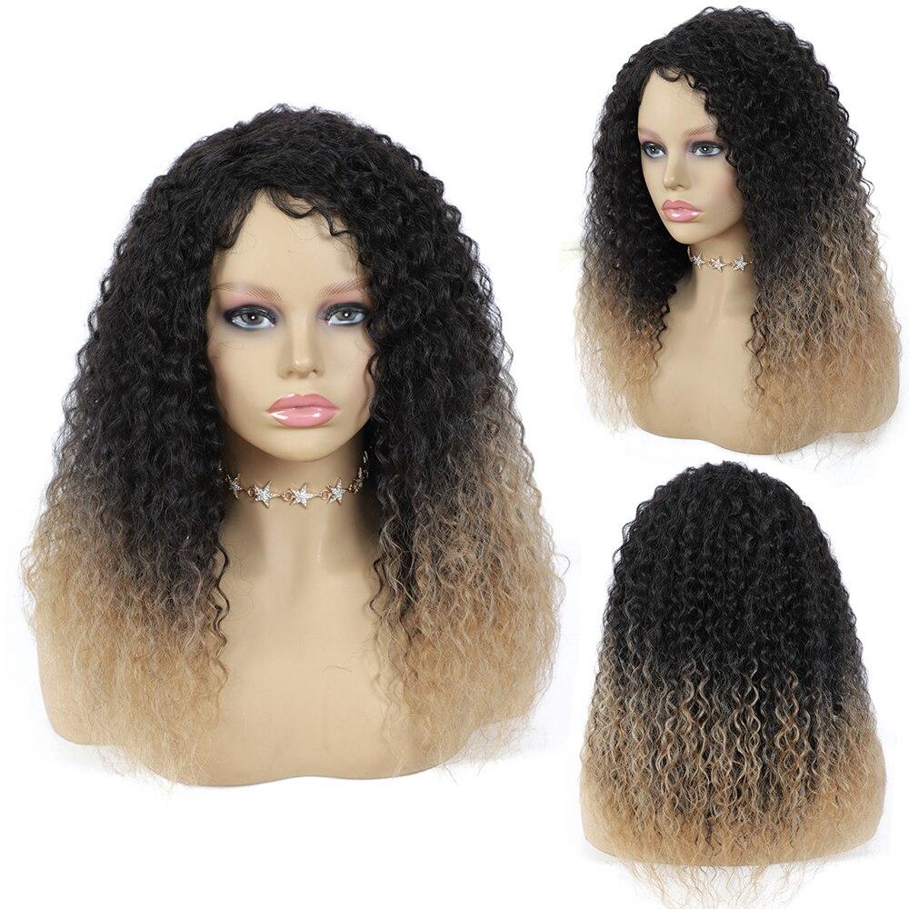 cabelo para preto feminino 18 polegadas resistente ao calor peruca de fibra