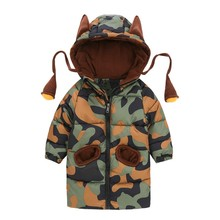 Childrens Winter Jackets For Baby Girls Clothes Warm Parkas Boys Camouflage Overalls