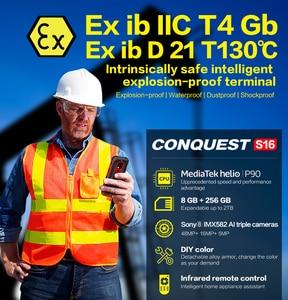 "Image 2 - כיבוש S16 /S16 ATEX IP68 עמיד למים מחוספס חכם נייד טלפון 6.3 ""תצוגת 8GB 256GB 48MP אנדרואיד smartphone טלפון סלולרי"