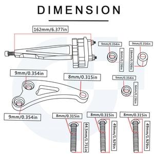 Image 5 - Motorcycle  Adjustable Steering Stabilize Steer Damper Mounting Bracket Kit For Honda CB650F 2014 2015 2016 2017 2018 cb 650f