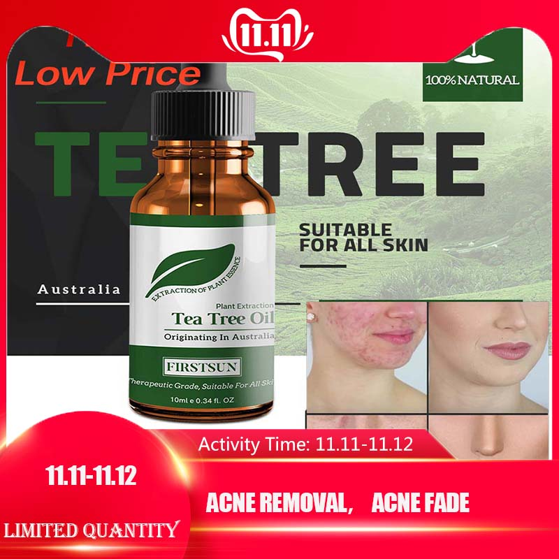 100% Natural Tea Tree Essential Oil Anti-wrinkle Extract Acne Removal Scars Marks Treatment Essential Oil For Any Skin CareTSLM1