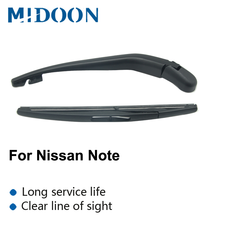 MIDOON Rear Wiper Arm & Blade For <font><b>Nissan</b></font> Note <font><b>E12</b></font> (MK2) 2004 2005 2006 2007 2008 2009 2010 2011 2012 image