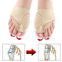 2Pcs = 1 Paar Toe Separator Hallux Valgus Bunion Corrector Orthesen Fuß Knochen Daumen Teller Korrektur Pediküre Socke Haarglätter