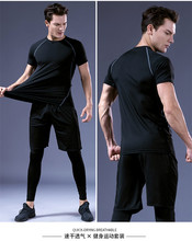 Gym Shirt Men Workout Fitness Compression Shirt Quick Dry Running T-Shirt Elastic Sportswear Basketball ropa deportiva