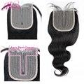HD прозрачный парики из натуральных волос на кружевной застежка только объемная волна 4X1 дюймов, с подсветкой P4/27 Bresilienne Cheveux Humain Реми бразиль...