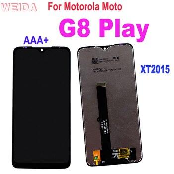 Перейти на Алиэкспресс и купить Для Motorola Moto G8 Play XT2015 XT2015-2 ЖК-дисплей сенсорный экран дигитайзер стеклянная панель сборка Motorola G8Play LCD