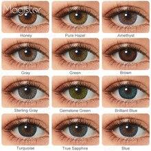 Lentillas de colores para ojos, 3 tonos, azul, marrón, 2 uds.