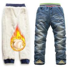 купить New 2019 Winter Warm Children Denim Jeans Brand Clothes 6-10Yrs Boys Jeans Trousers Winter Add Wool Pants Boys Long Trousers дешево