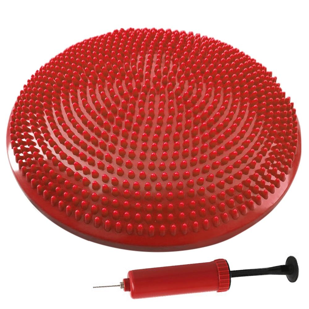 33 см балансировочный диск для йоги, надувная устойчивая Подушка, свободный ручной насос, ПВХ Противоскользящий надувной балансировочный ди...