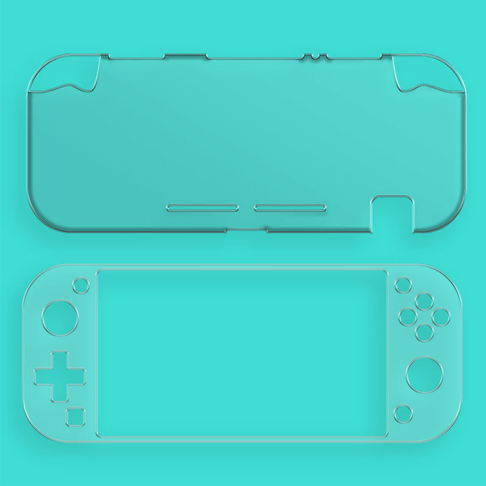Game Console Screen Protector Shell Clear Anti-skid TPU Thin Tempered Film Protective Cover Set Accessories Case For Switch Lite