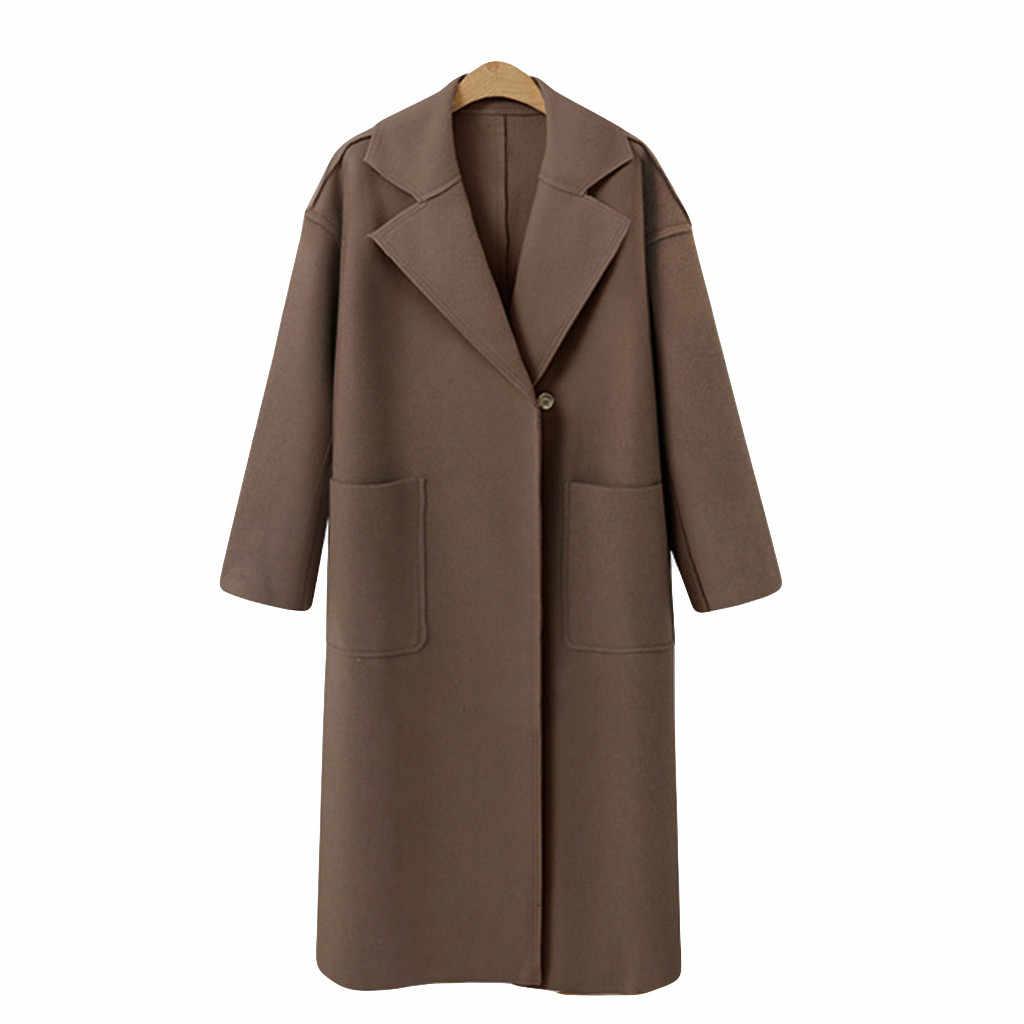 JAYCOSIN 2019 Lungo Cappotto di Autunno delle Donne di Inverno A Manica Lunga casual Donne Giacca Cardigan di Lana Cappotti Della Tuta Sportiva Femminile 19SEP9