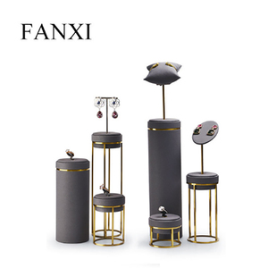 Image 2 - FANXI Jewelry Display Leather Necklace Earring Bracelet Display Stand Neckalce Bust Display Setwith Metal Base