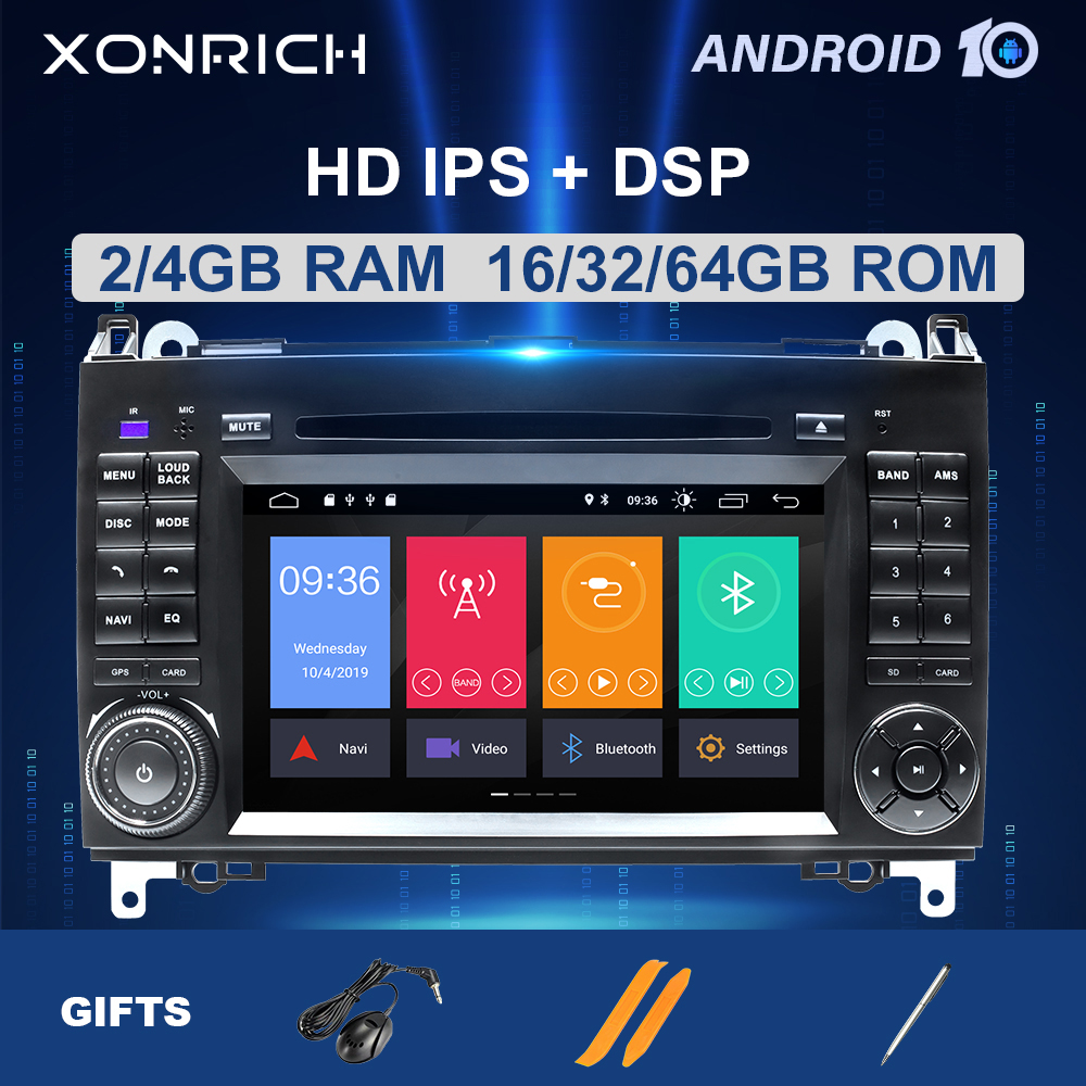 2 din <font><b>Android</b></font> 10 Car Multimedia For <font><b>Mercedes</b></font> <font><b>Benz</b></font> Sprinter B200 W209 <font><b>W169</b></font> <font><b>W169</b></font> B-class W245 B170 Vito W639 A180 A160 W906 <font><b>Radio</b></font> image