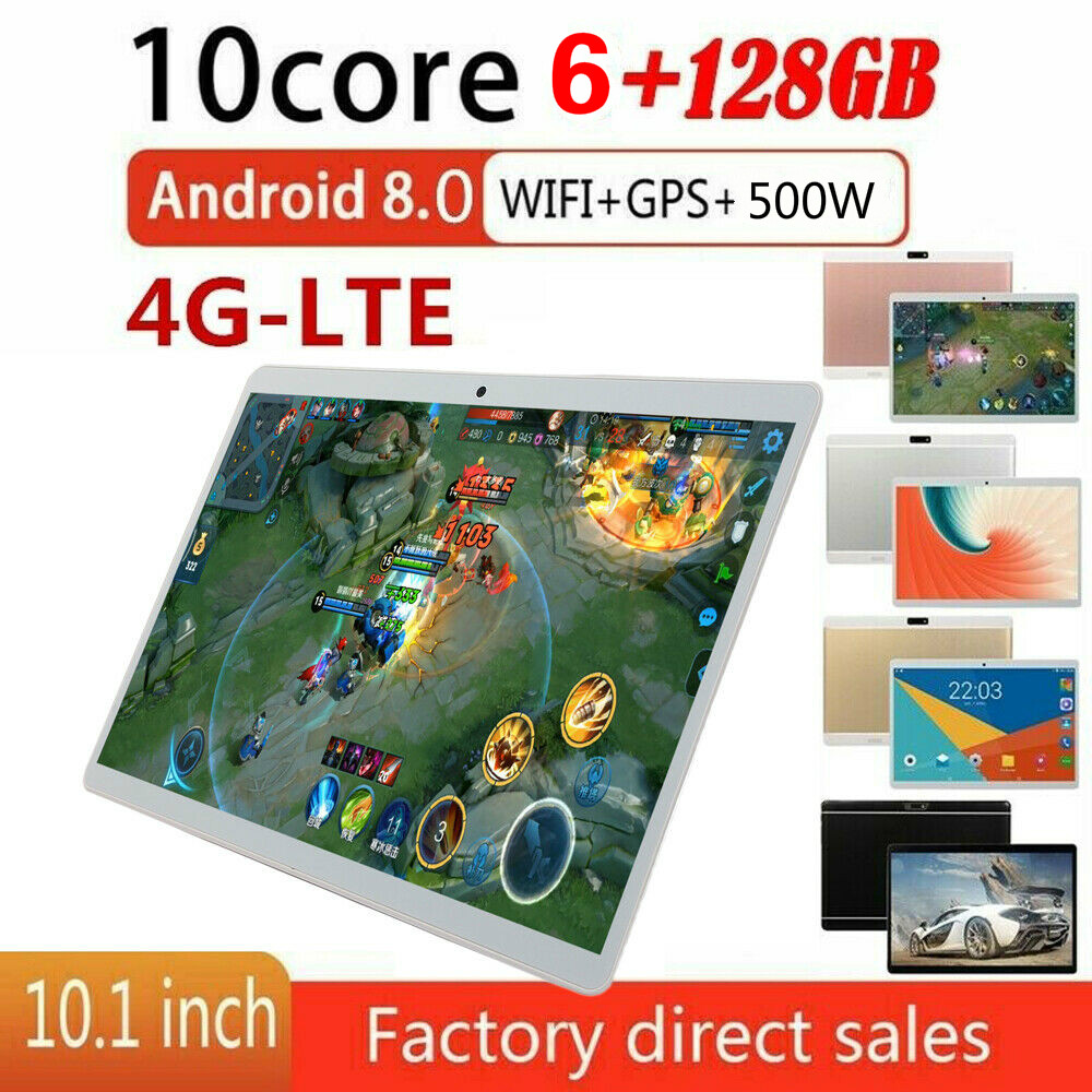 2020  Android 8.0 OS 10 Inch Tablet Ten Core 4G Call Phone Tablet 6GB RAM 128GB ROM 1280x800 WiFi Bluetooth Tablet For Gifts