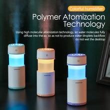 Humidificador de aire elimina la electricidad estática limpiar el cuidado del aire para la piel Nano spray tecnología Mute diseño 7 luces de color difusor aromaterapia Coche Oficina difusor aroma humificador carro