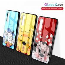 Kartun Tempered Glass Case untuk Xiaomi Redmi Note 7 /4 5 6 Xiomi Xaomi Xiao Mi 6 6A 5A 5 Plus Mi 8 Lite 9 A2 Cover Aksesoris(China)