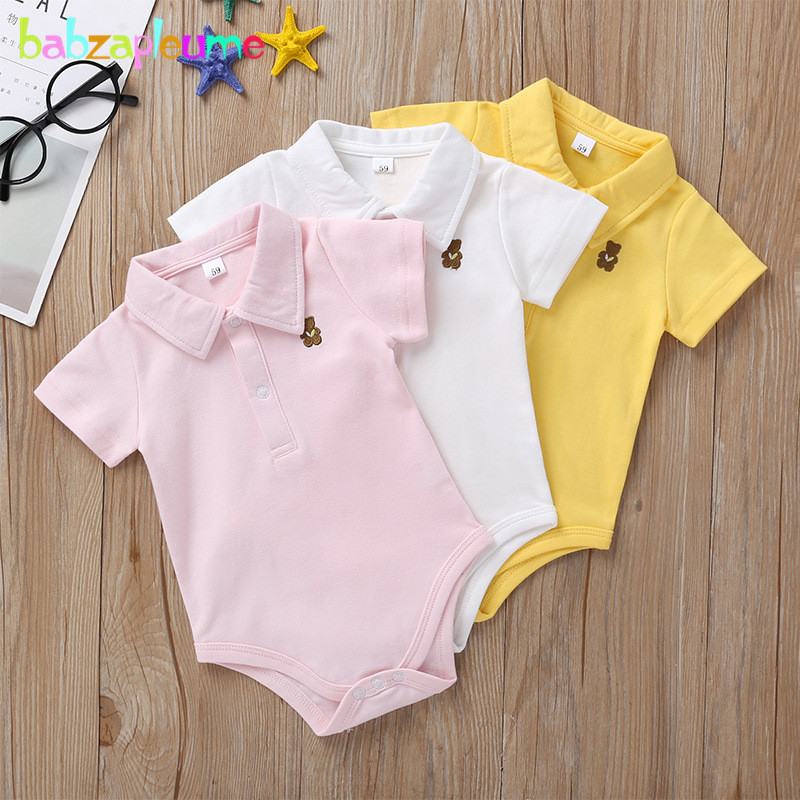 Summer Baby Jumpsuit Infant Girls Boys Clothes Cartoon Casual <font><b>Short</b></font> <font><b>Sleeve</b></font> Cotton Toddler <font><b>Bodysuit</b></font> Newborn Cute Outfits BC1844-1 image