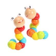 Дети twist Цветной игрушечные насекомые деревянные развивающие