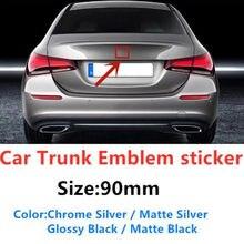 1pc 90mm estilo do carro tronco traseiro meio emblema emblema adesivo para mercedes w203 w211 w204 w210 w124 w212 cla w205 w202 w220 w213