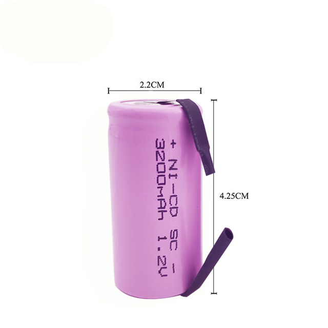 10/12/20PCS SC 3200mAh 1.2V Rechargeable Battery 4/5SC Sub C Ni-cd Cell with Welding Tabs for Electric Drill Screwdriver