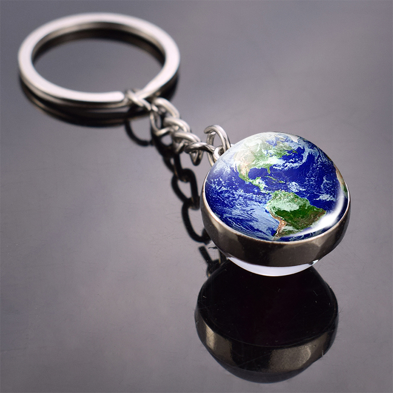 Vintage World Map Keychain Globe Earth Pendant Key Chain Americas Europe Australia Map Keychain Keyfob Christmas Gifts