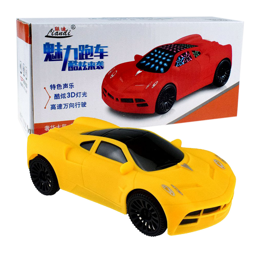 Cool Electric Universal Toy Sports Car With 3D Light And Music Universal CHILDREN'S Toy Car Night Market Stall Hot Selling