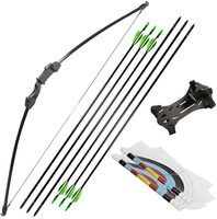 Linkboy Archery 15-20lbs Recurve Takedown Bow and Arrow Set for Youth Adult Practice Kit Kids Toy 1