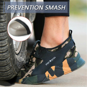 Image 3 - Safety Work Shoes Mens Sneakers With Steel Toe Cap Camouflage Indestructible Shoes Lightweight Breathable Working Boots