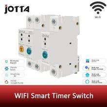 Compteur d'énergie intelligent sur Rail Din WIFI 1P/2P, consommation d'énergie, kWh, compteur de disjoncteur, minuterie, relais, voltmètre avec ewelink
