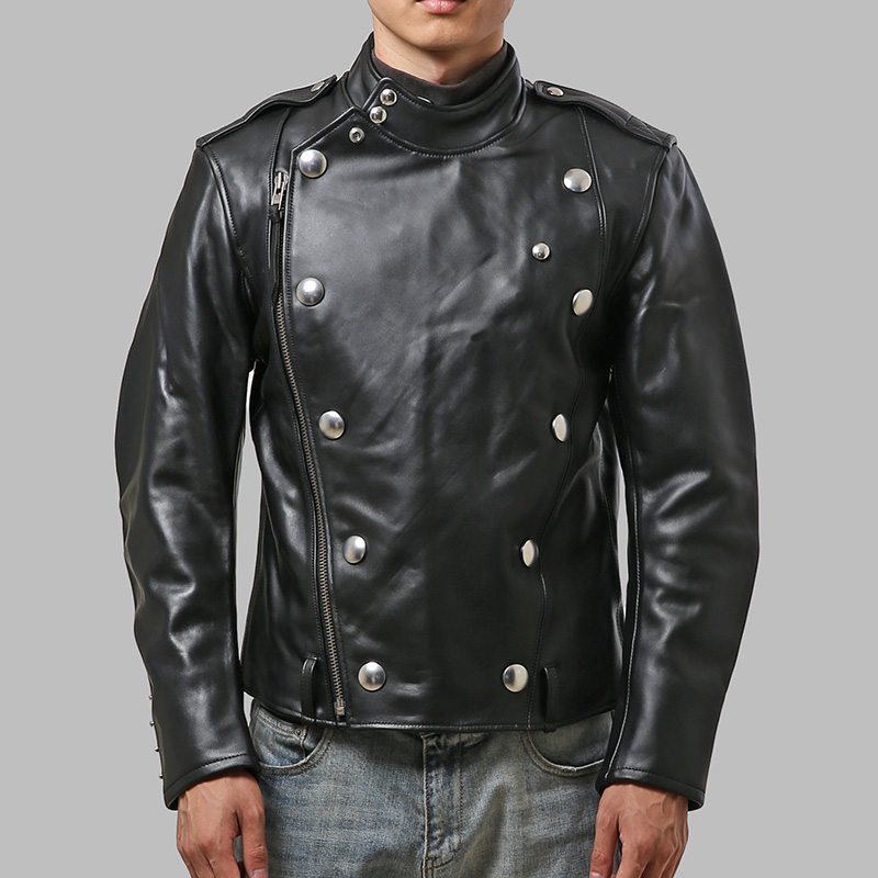 Free Shipping.japan Classic J31 Style.mens Cowskin Jacket,fashion Genuine Leather Slim Coat.cool Motor Biker Jackets
