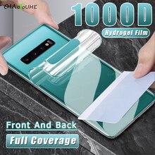Полное покрытие Гидрогелевая пленка для Samsung Galaxy S10 S8 S9 Plus S20 FE Защитная пленка для экрана Note 8 9 10 Plus 20 Ультра задняя пленка не стекло