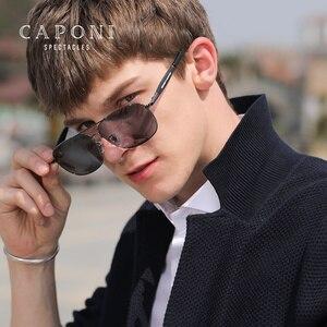 Image 3 - Очки солнцезащитные CAPONI мужские фотохромные, квадратные поляризационные, винтажные, из сплава, для вождения, UV400, BS10001