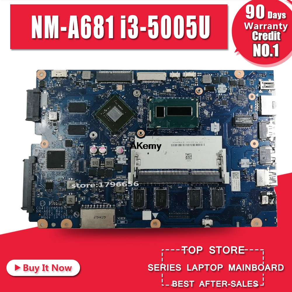 CG410/CG510 NM-A681 Is Suitable For Lenovo B50-50 100-14IBD Notebook Motherboard CPU I3 5005U GT920M DDR3 100% Test Work