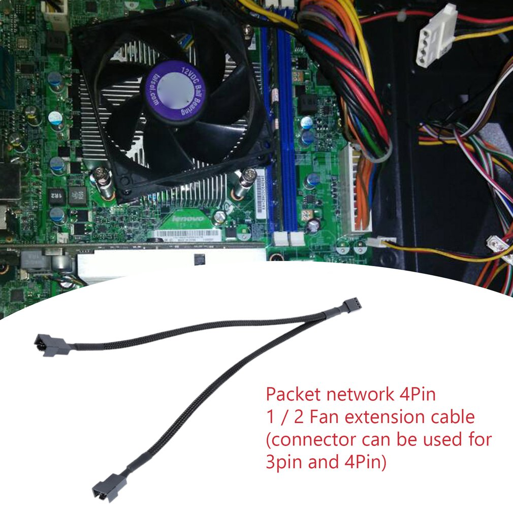 Cooler Extension Motherboard Wire Splitter Power Adapter 3Pin Fan Cable 4Pin Female To PWM Computer Male Cooling