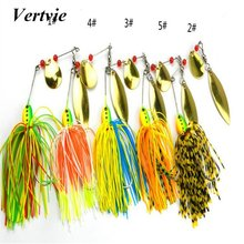1pc 16.3g Spinner Fishing Lure Bait Spoon Bass Wobbler Spinnerbait Lures Tackle Barb Hooks Pesca Artificial Metal Sequins(China)