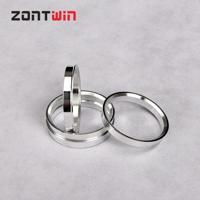 4pcs Car Aluminum Hub Rings Hub Centric Rings Wheel Bore 73.1-66.6 74.1-66.6 75.1-66.6 77.6-66.6 84.1-66.6mm Wheel Hub Rings